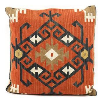 Piruz Carnelian Kilim Wool Pillow