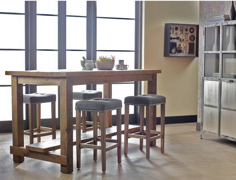 kitchen table with bar stools