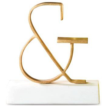 Bell Gold Ampersand Sculpture