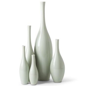 Bliss Modern Tulip of Celadon Ceramic Vases