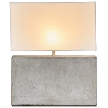 Doyle Cement Rectangular Table Lamp