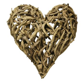 Driftwood Heart Sculpture
