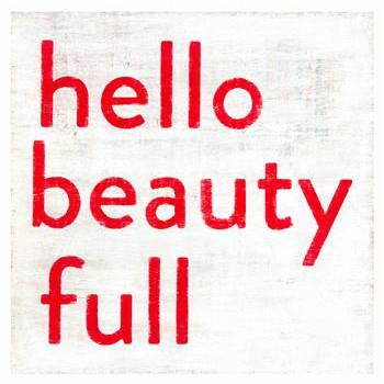 Hello Beauty Full Vintage Wall Art