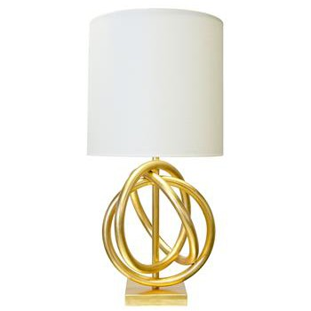 Trinity Gold Ring White Table Lamp