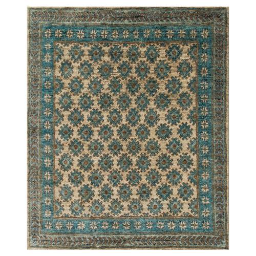 Fanti Global Blue Ocean Tribal Diamond Jute Rug