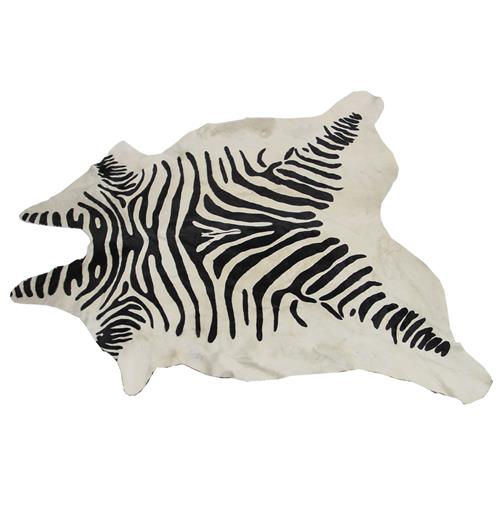 Namibia Painted Zebra Hide Rug