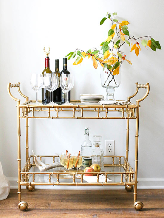 kathy kuo home bar cart
