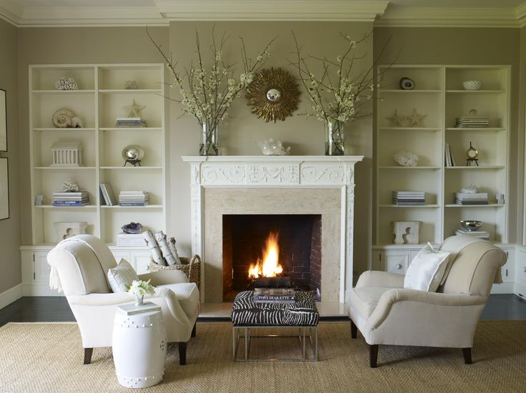 17 fireplace decorating ideas to die for kathy kuo blog for Decor over fireplace