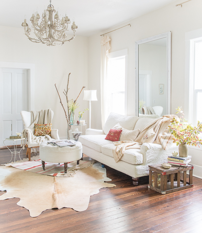 A Warm Rug Some Fall Primping Home Decor: Hide Rugs: Why We Love Them
