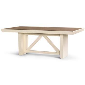 delen ivory lacquer grasscloth brown dining table