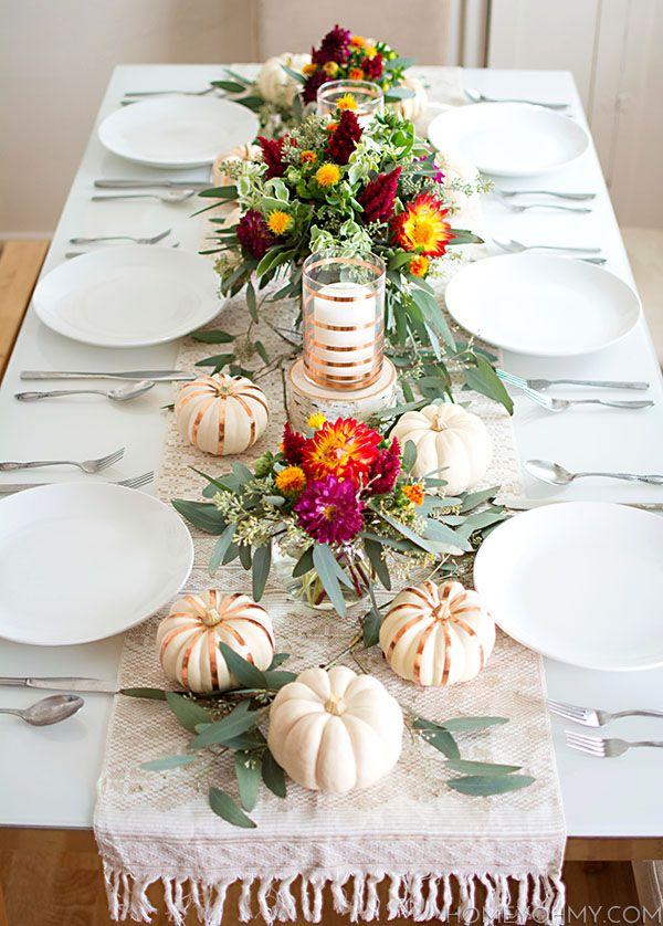 kathykuohome thanksgiving tablescape