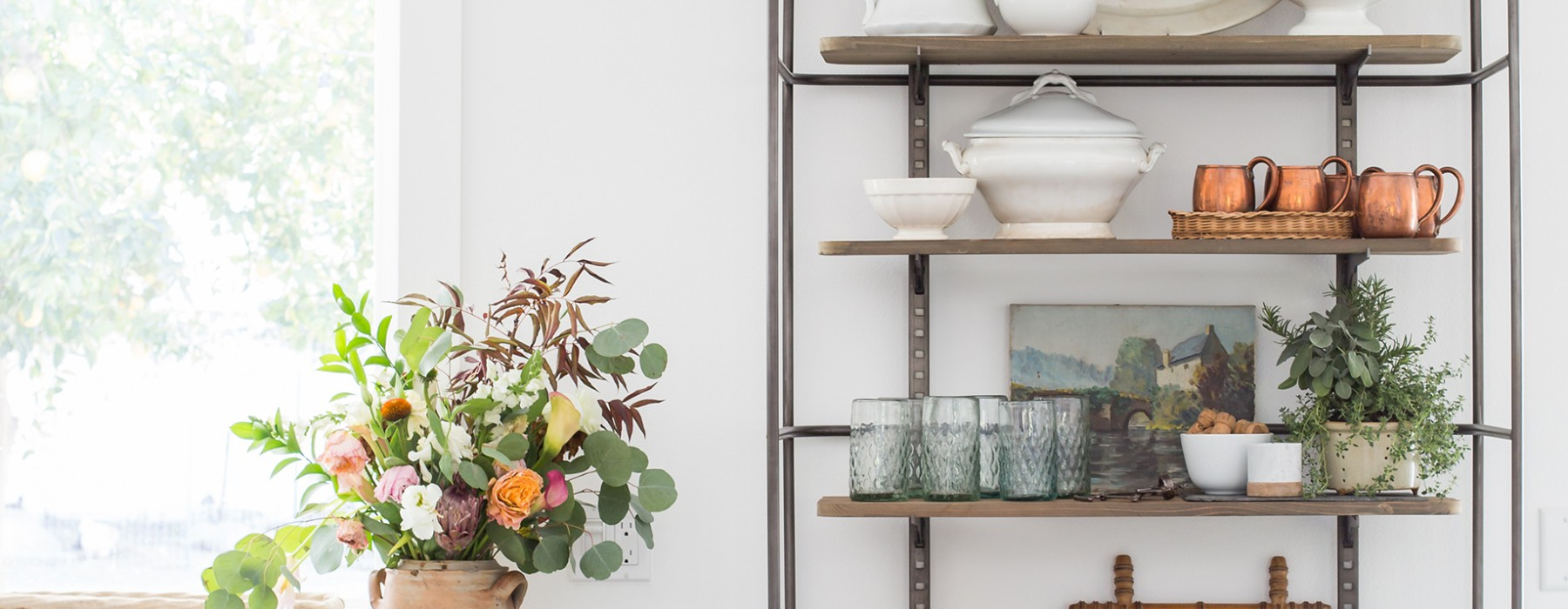 Heather Bullard's French Country Display Cabinet