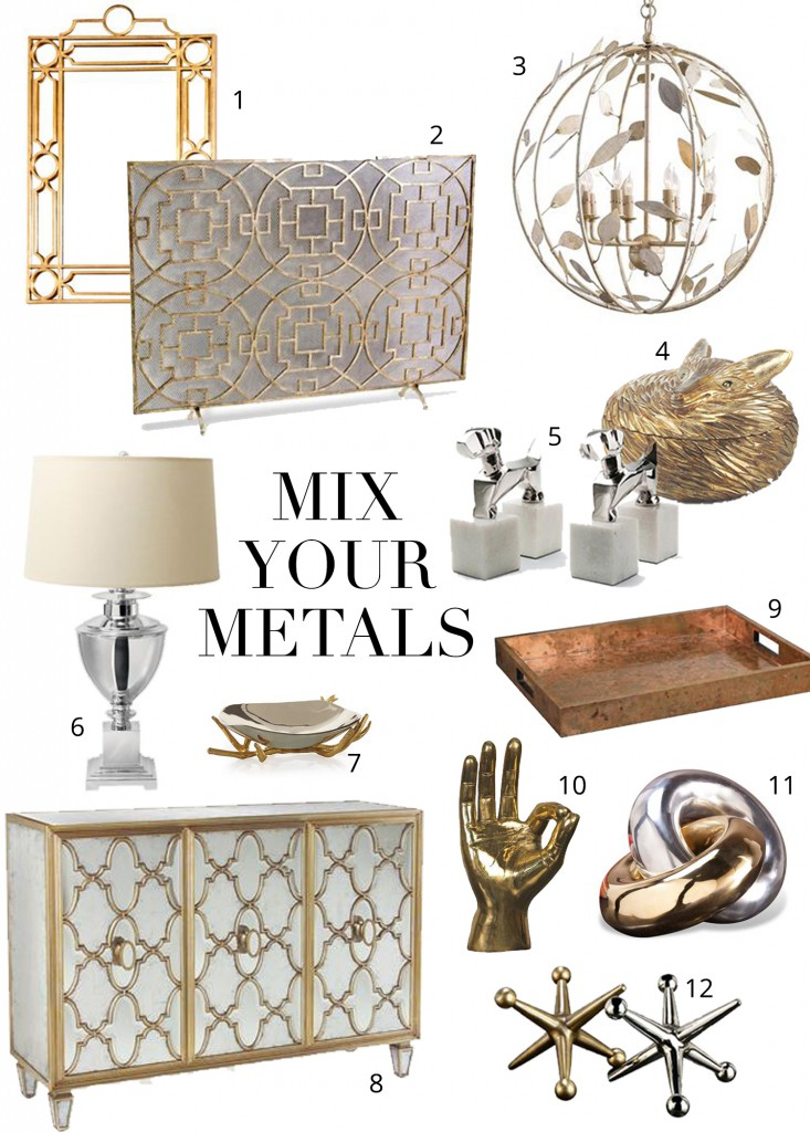 Mixing Metals The Dos and Donts  Kathy Kuo Blog