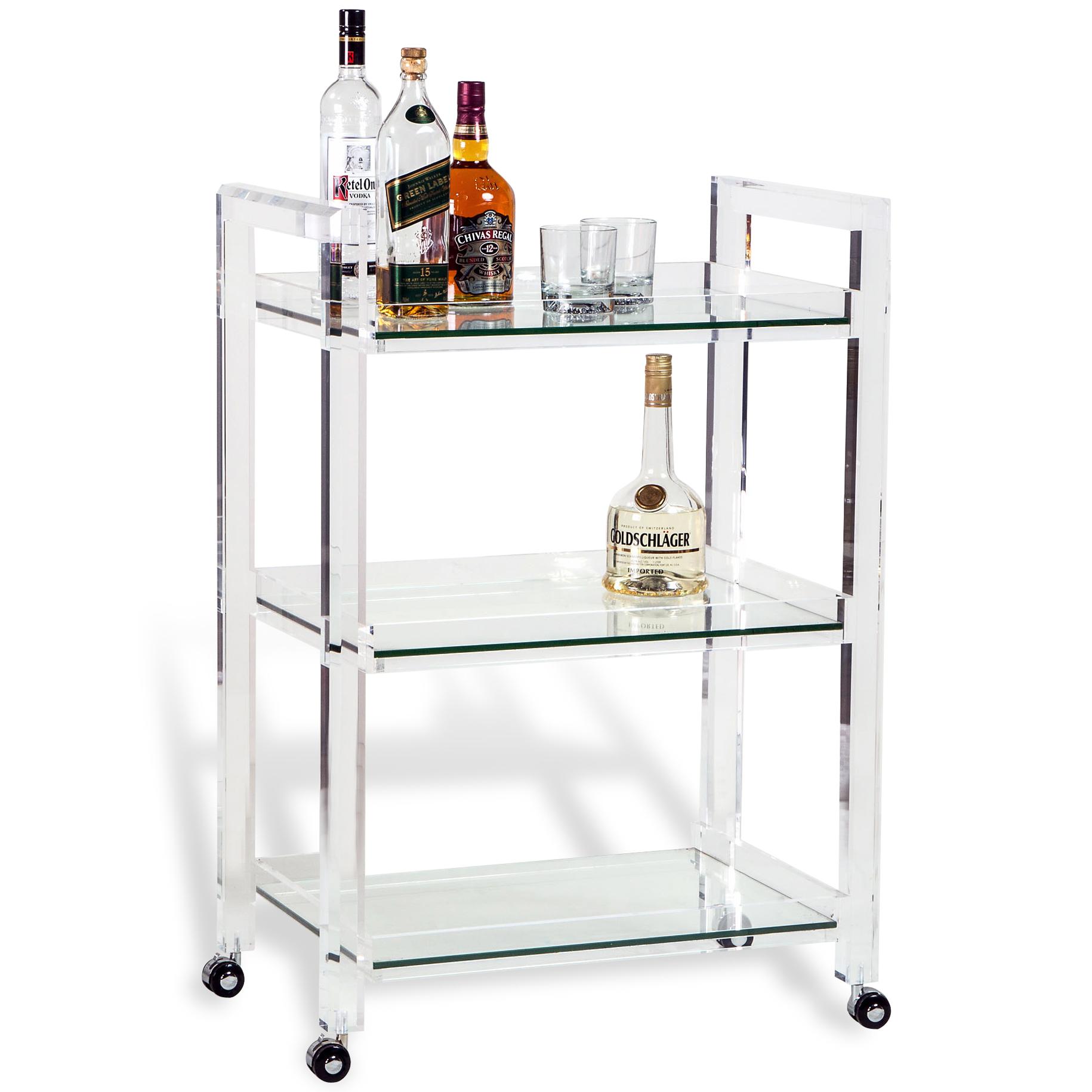 Interlude Ava Modern Acrylic And Glass Serving Bar Cart Kathy Kuo Blog Kathy Kuo Home Kathy Kuo Blog Kathy Kuo Home