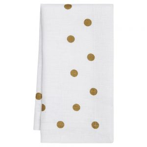 Mode Living Modern Classic Belle Napkins with Gold Polka Dots - Set of 4