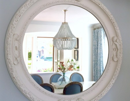 Kristy Wicks' Blue and White Dining Room