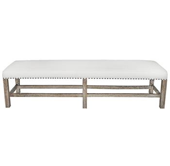 white and wood bench