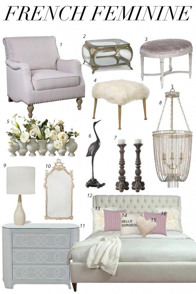 French interior design inspiration board