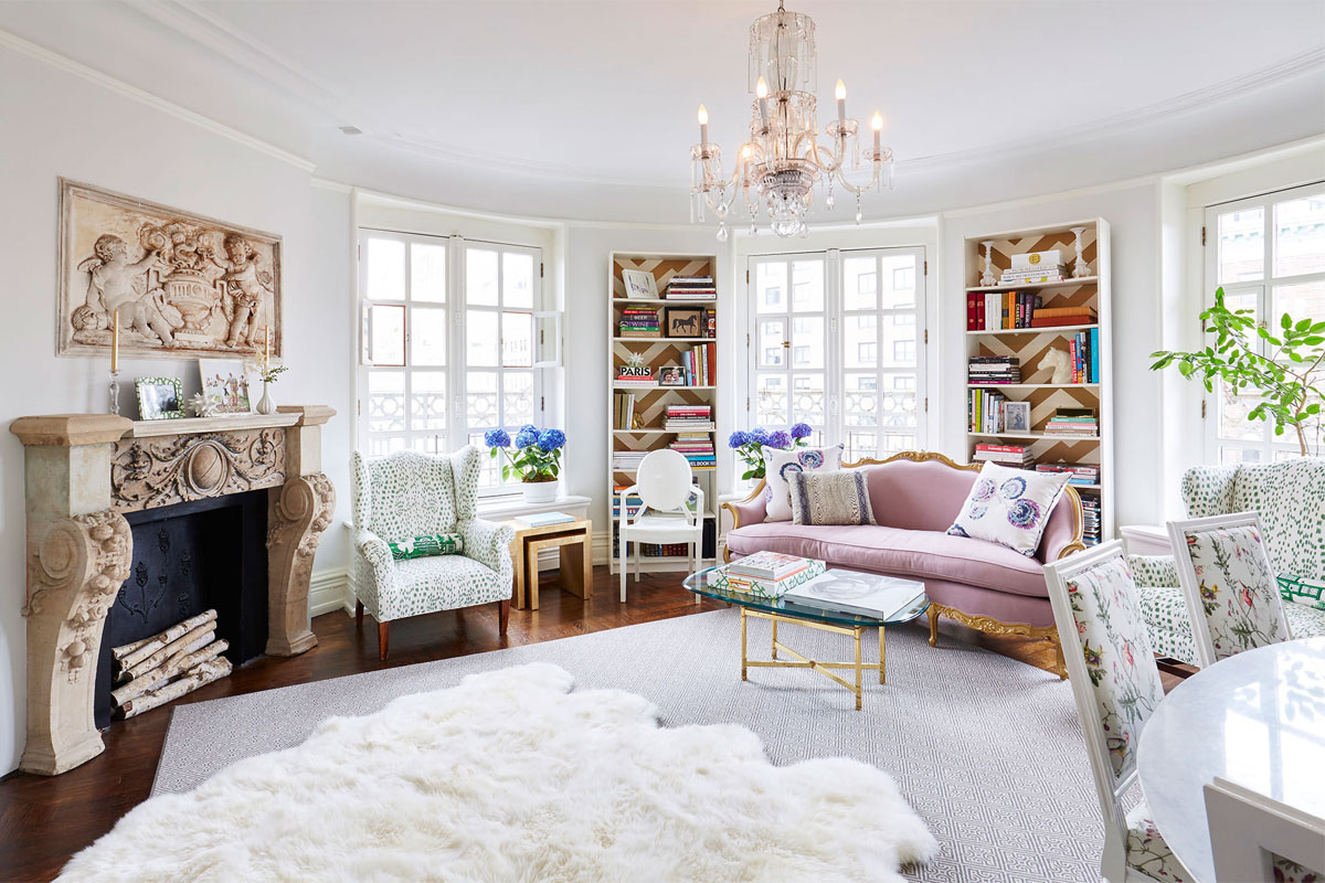 Kathy Kuo Home French Feminine Living Room