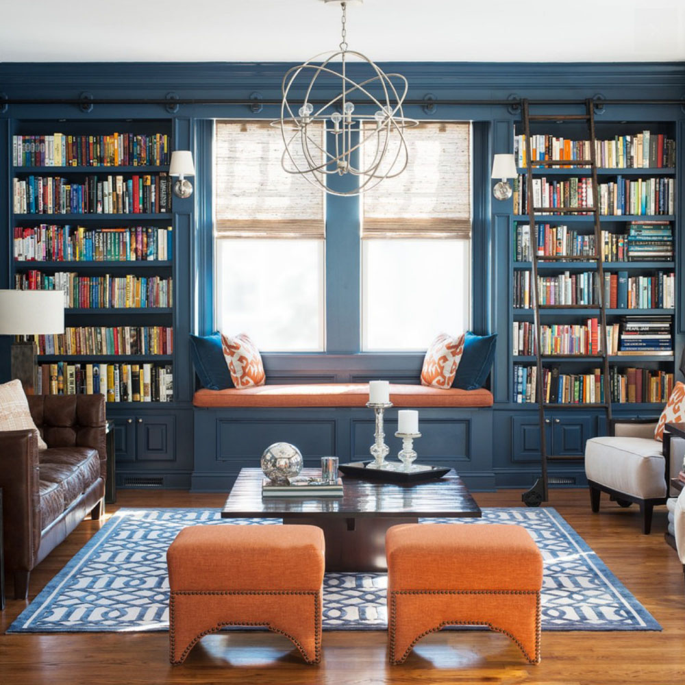 blue library kathy kuo home