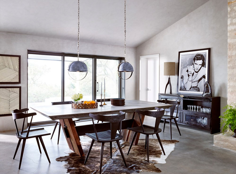 masculine dining room