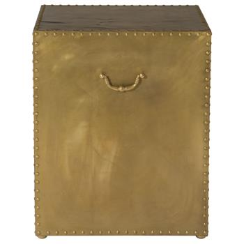 Emil-Hollywood-Regency-Patinated-Brass-Side-End-Table