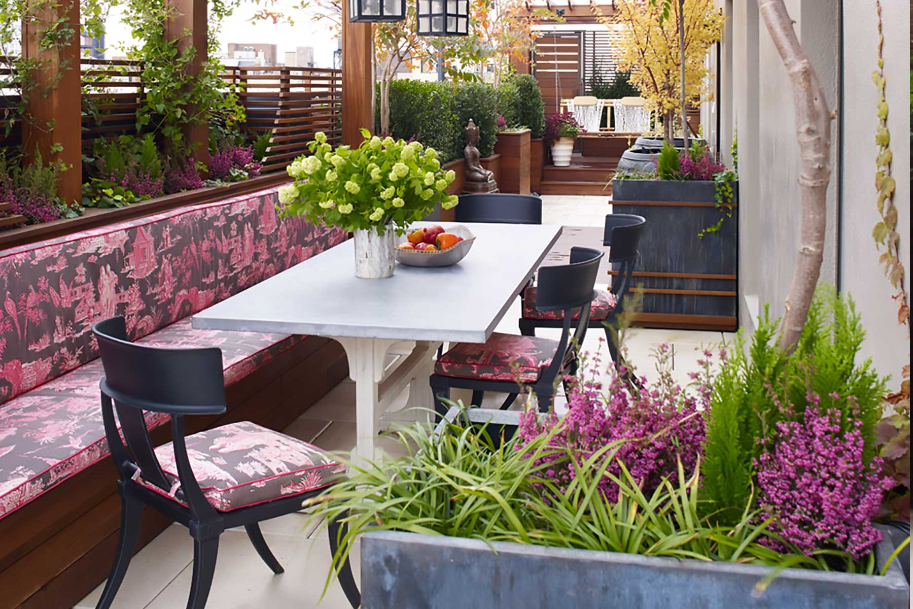 Upper West Side terrace by Gunn Landscape Architecture and