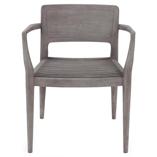 Abney Industrial Loft Grey Oak Slat Arm Chair