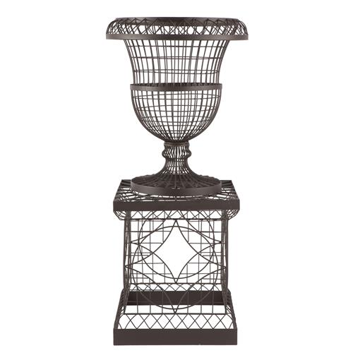 French Country Chateau Wire Frame Outdoor Urn Planter