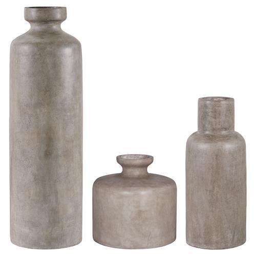 concrete vases