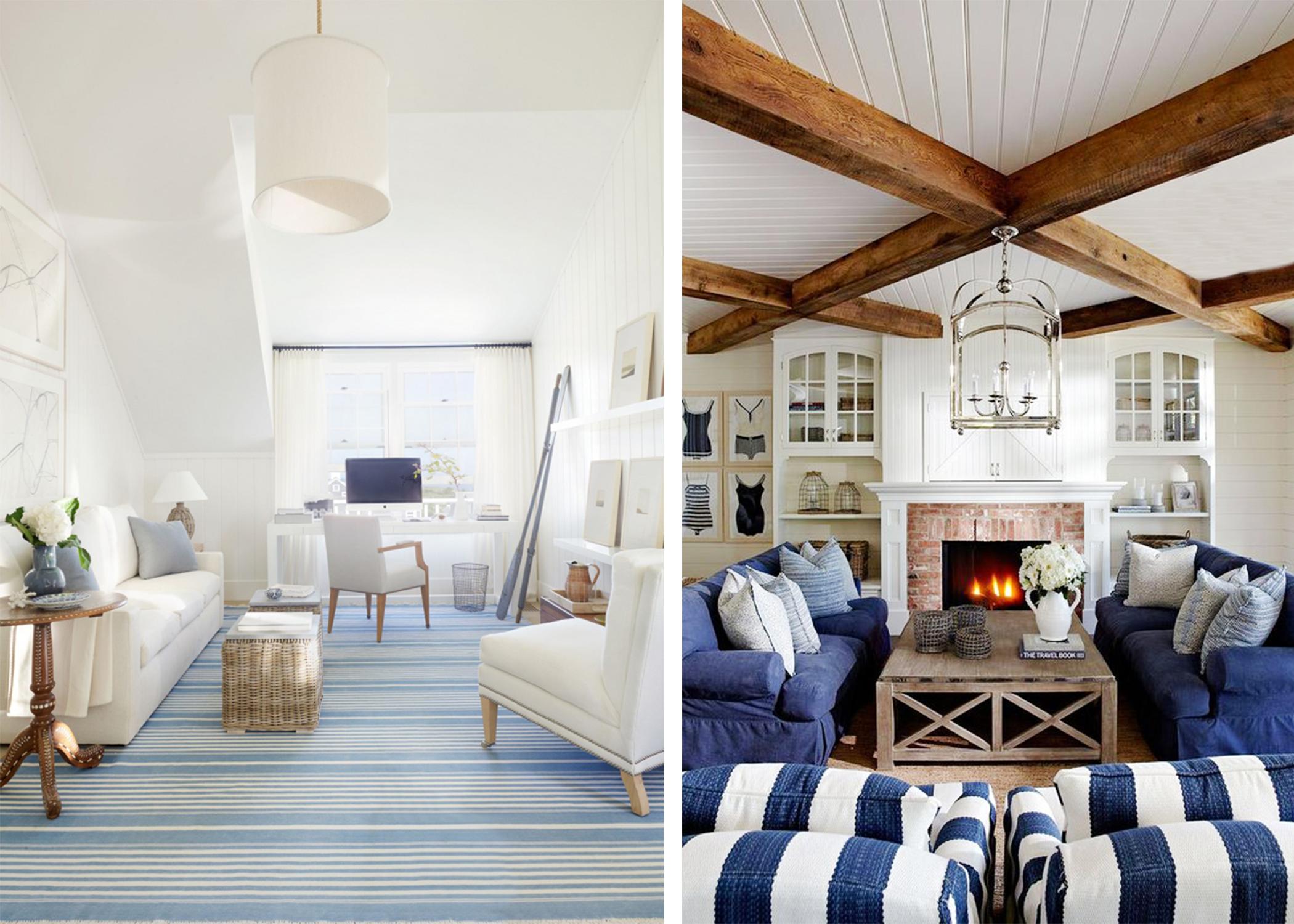 collage of nautical interior design images
