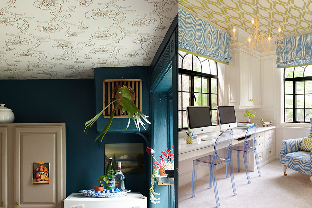 wallpaper ceiling kathy kuo home