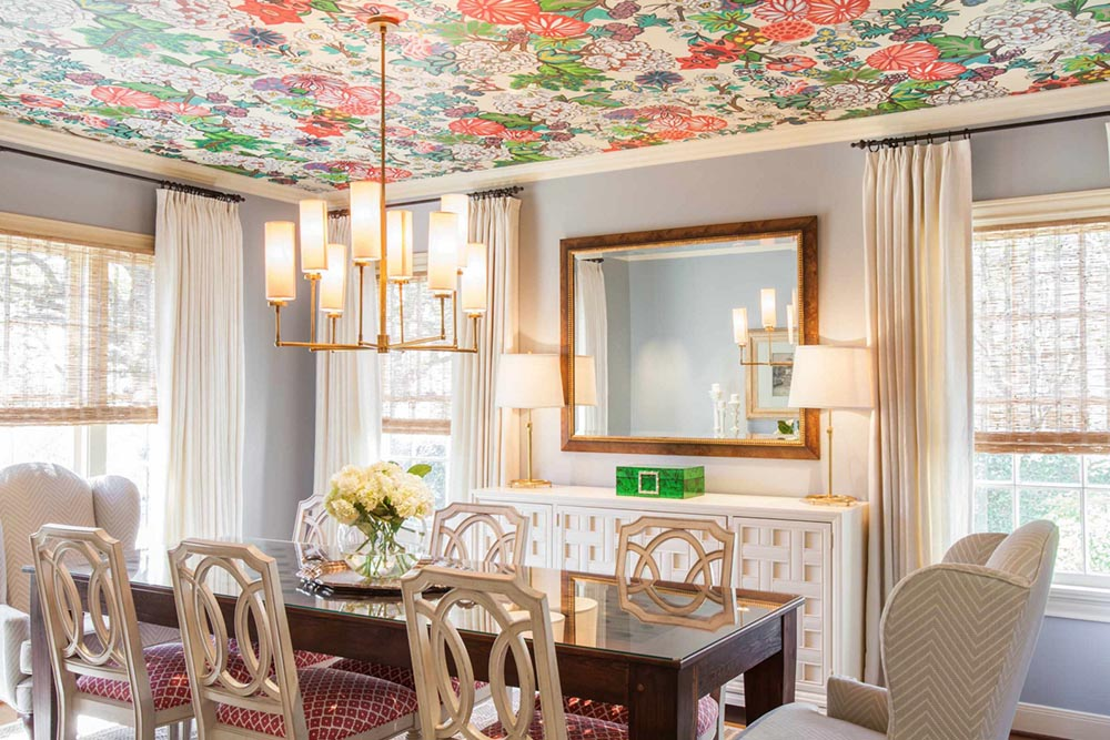 Currently Trending: Wallpapered Ceilings