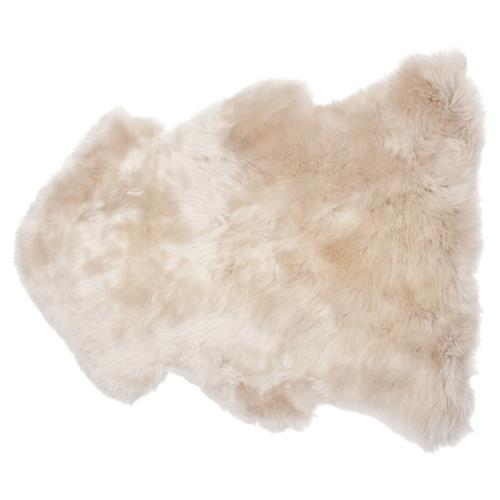 Veruca Modern Toasted Almond Sheepskin Pelt Fur Rug