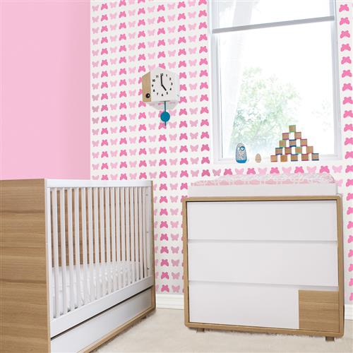 Kids Butterfly Pink Removable Wallpaper