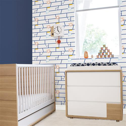 Kids Comic Book Blue Removable Wallpaper