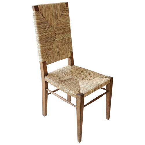 Coastal Beach Seagrass Teak Dining Chair