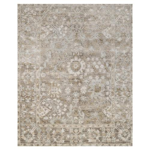 Fatime French Antique Wash Dune Grey Bamboo Silk Rug