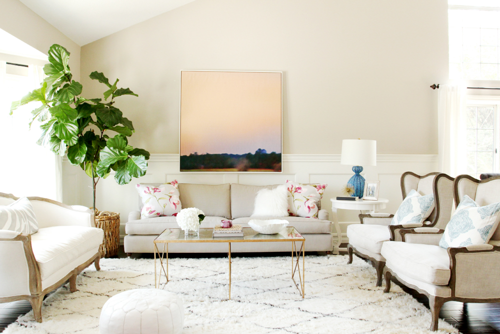 living room interior desing with plants