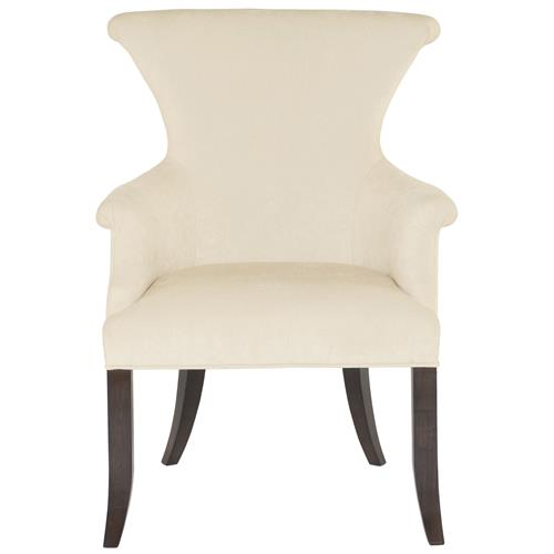Crawford Modern Classic Ring Pull Ivory Arm Dining Chair