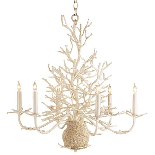 Seasong White Coral Vintage Chic Coastal Chandelier