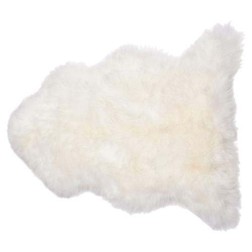 Veruca Modern Ivory Sheepskin Pelt Fur Rug