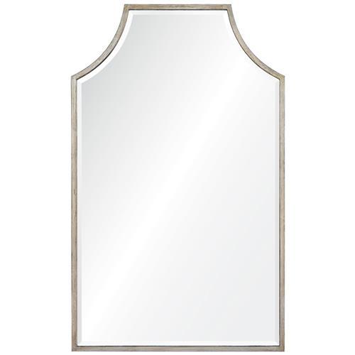 Greta Modern Classic Silver Leaf Mirror