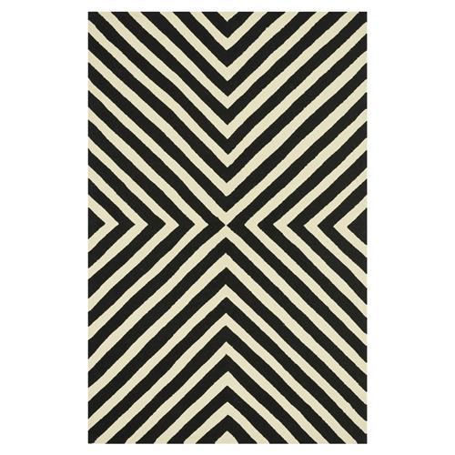 Ilda Modern Black White Graphic Outdoor Rug