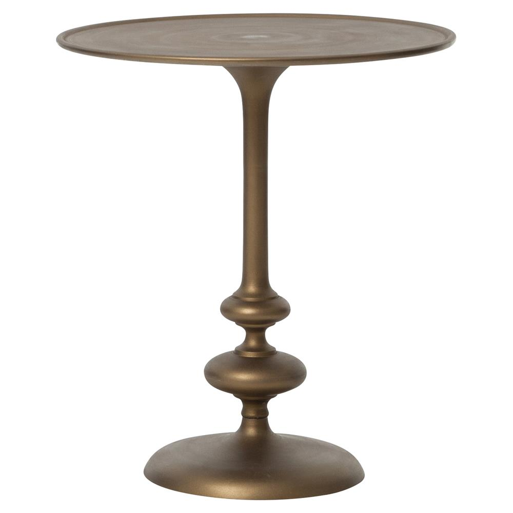 Berthold Global Brass Matchstick Pedestal Side End Table