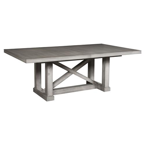 Jimmy Rustic Grey Cedar Wood Adjustable Dining Table
