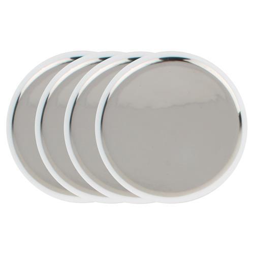 Dauville Regency Silver Ceramic Tidbit Plate Set