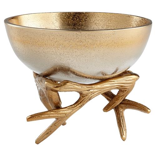 Dasher Metallic Ombre Gold Antler Bowl