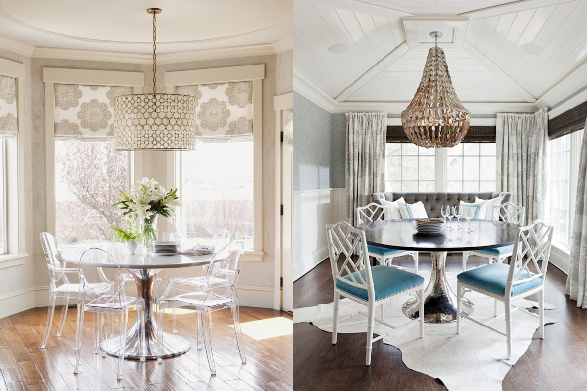 Source: (left) Architectural Digest And (right) Elle Decor