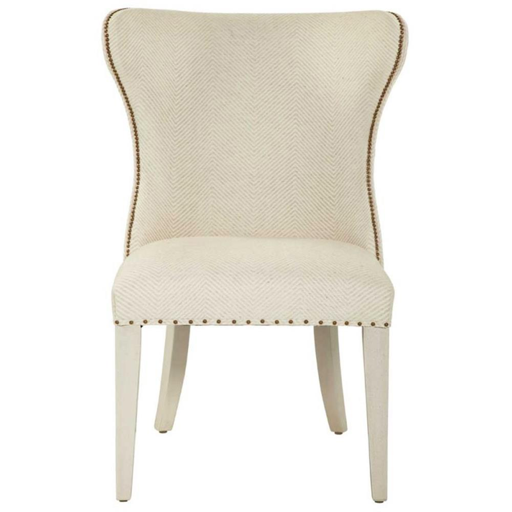 Oriana Modern Classic Upholstered Cream Wing Side Dining Chair